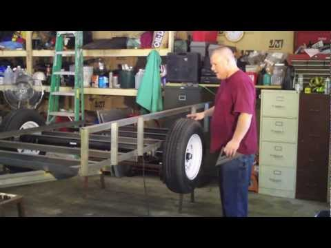 How to Build a Utility Trailer Part 6 Installing Top Rail Framing and Fender Thoughts