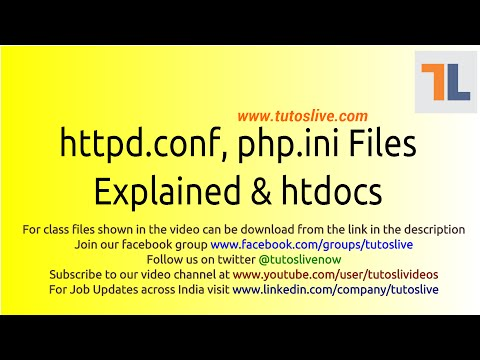 httpd conf and php ini explained By Tutoslive