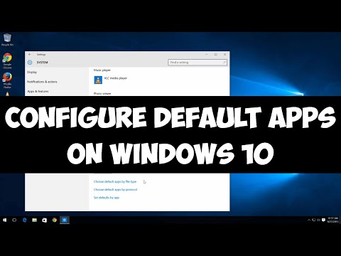 Configure default apps on Windows 10