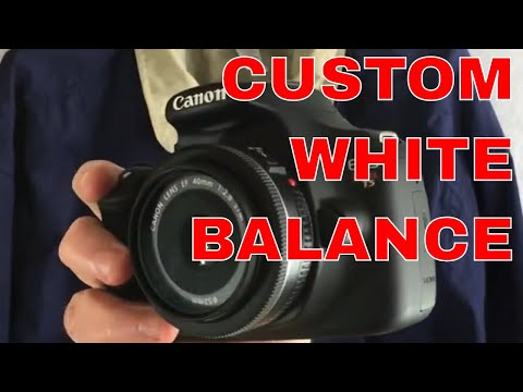How I set custom white balance on my Canon T5 for eBay photos