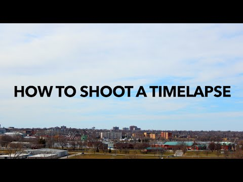 How to Shoot a Timelapse - Tutorial