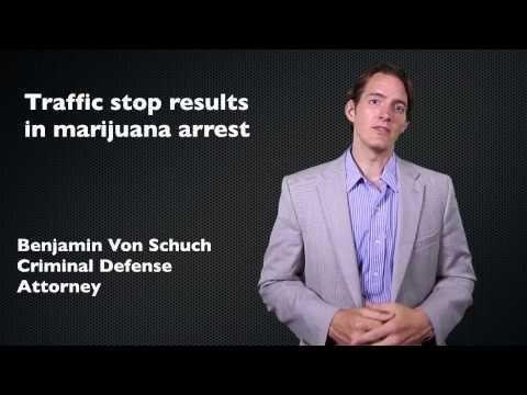 Arrested for marijuana at a traffic stop | Atlanta criminal defense attorney
