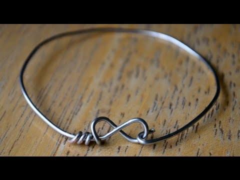 DIY Wire Infinity/Heart Bracelets
