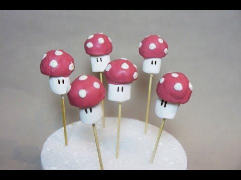 Super Mario Mushroom CakePops