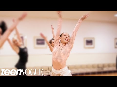 Maddie Ziegler Learns a Dance Routine with The Rockettes