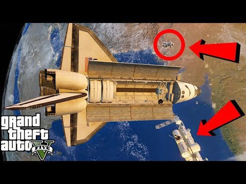 GTA 5 Grand Theft Space Mod|Shuttle Launch To Outer Space|Restocking The International Space Station