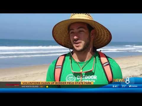 CBS 8 Highlights Clean Up Event at Tijuana River Mouth by Surfrider Foundation and Cerveza Imperial