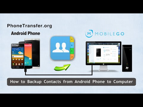 How to Backup Contacts from Android Phone to Computer, Export Android Contact to PC