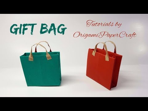 How to make a Mini Gift Bag For Doll's House 🛍️ Tutorial By OrigamiPaperCraft 🛍️