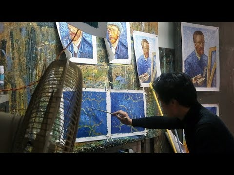 The man who's painted 100,000 Van Goghs