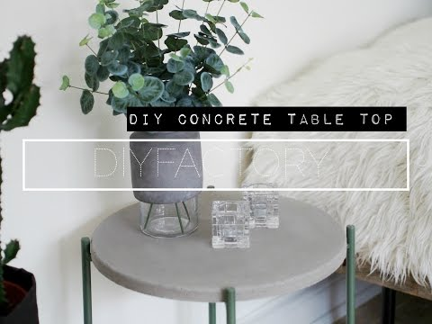 DIY concrete table top // IKEA HACK