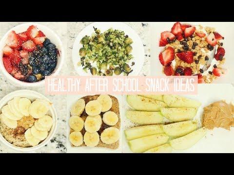 6 HEALTHY SNACK IDEAS FOR AFTER SCHOOL: Açai Bowl, Oatmeal, Ezekiel Toast... | Kaela Kilfoil