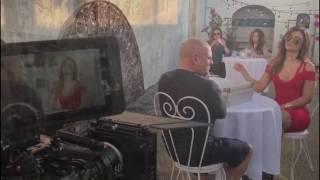 Clarissa Molina en el Behind the scenes de la película
