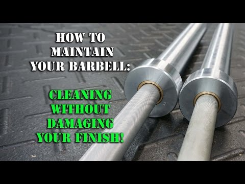 How To Clean a Barbell & Remove Rust - Barbell Maintenance Crossfit