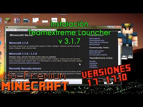 [Tutorial] Instalación TeamExtreme Minecraft Launcher Versión 3.1.7 | Minecraft 1.7.4 | No-Premium