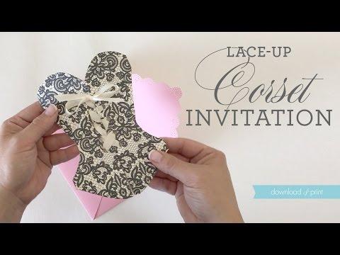 DIY Lace-Up Corset Invitation VIDEO