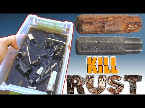 How To REMOVE RUST From Tools w/ Apple Cider Vinegar | Clean Off Rusty Sockets & Metal Drill Bits