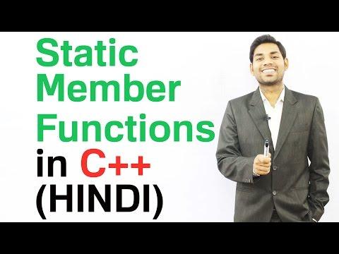 Static Member Functions in C++ (HINDI/URDU)