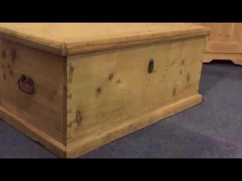Large flat top pine box - Pinefinders Old Pine Furniture Warehouse