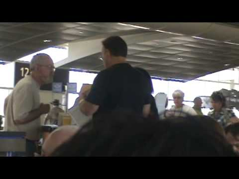 AIRLINE TRAVEL & AIRPORTS: Poul at Orlando International Airport