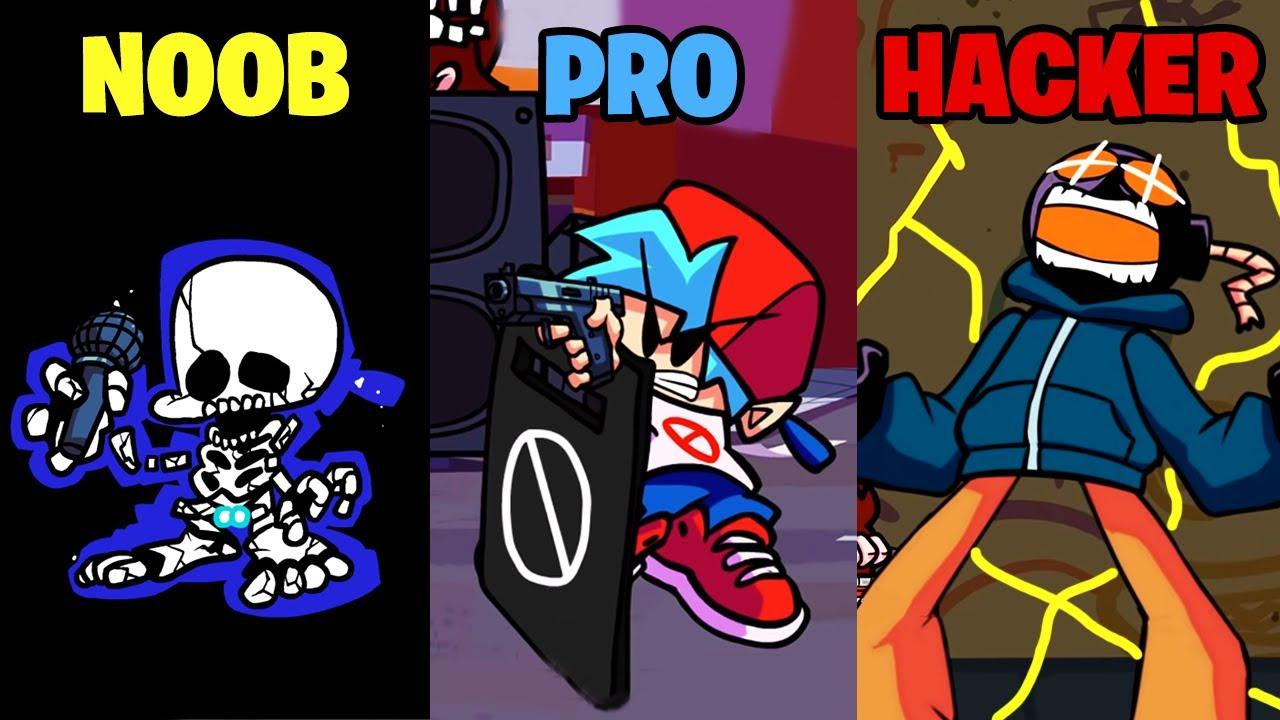 Noob vs Pro vs Hacker in Friday Night Funkin'