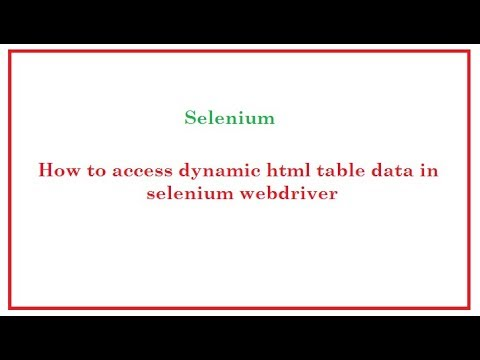 Selenium Automation: How to retrieve table data (cell data)  using Selenium WebDriver