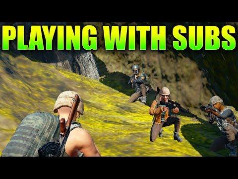 Battlegrounds WINNING With SUBS! (Player Unknown Battlegrounds)