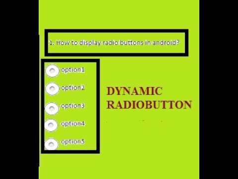Dynamic RadioButton example in android
