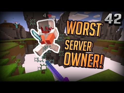 The WORST Minecraft Server Owner (Minecraft SkyWars)