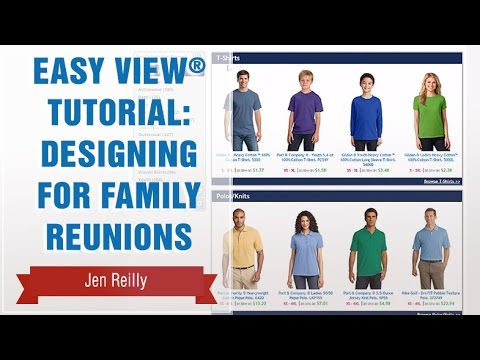 Transfer Express Easy View® Tutorial: Designing for Family Reunions
