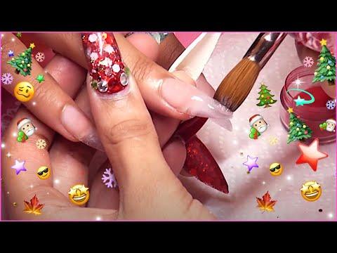HOW TO: Dark Acrylic Nails Full Set