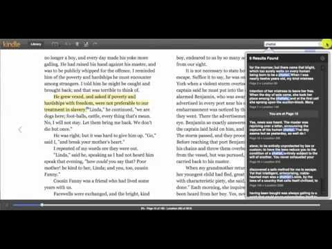 Kindle Cloud Reader - Highlighting, Taking Notes, and other Reading Features