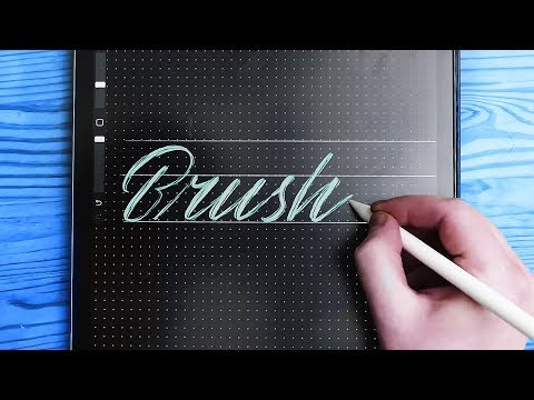 Procreate 4 | How To Make A Lettering Brush 🖌