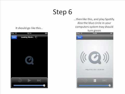 Stream spotify from computer to play on iPad, iPhone or iPod Touch dock/speakers wirelessly, Wi-Fi