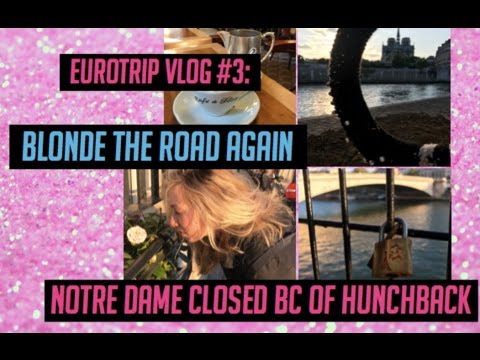 EURO TRIP VLOG: NOTRE DAME AND SUNSET IN PARIS