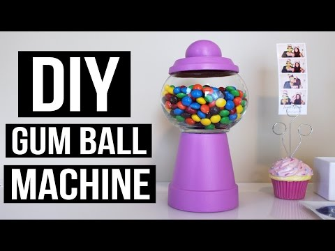 CHEAP AND EASY DIY GUM BALL MACHINE | PINTEREST INSPIRED