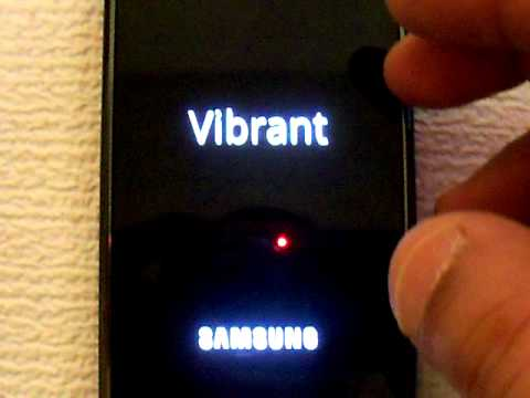 SAMSUNG VIBRANT CAN'T BE UNLOCKED