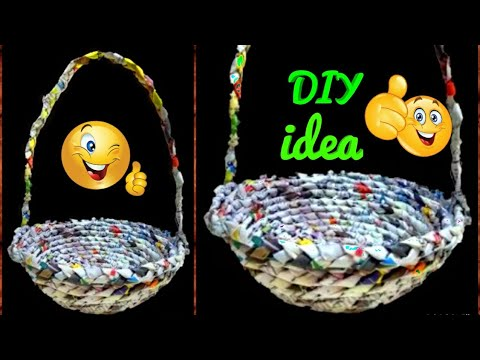 Best Out Of Waste | How To Make Basket From Newspaper | DIY Basket | Paper Basket | Newspaper Craft