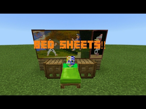 Minecraft Pocket Edition | How to lay on Bed Sheets!