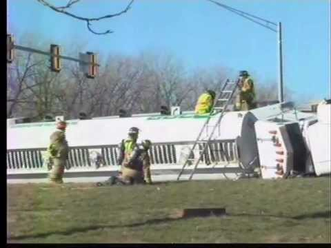 Haz-Mat crews work to clean-up fuel spill on Hwy 63