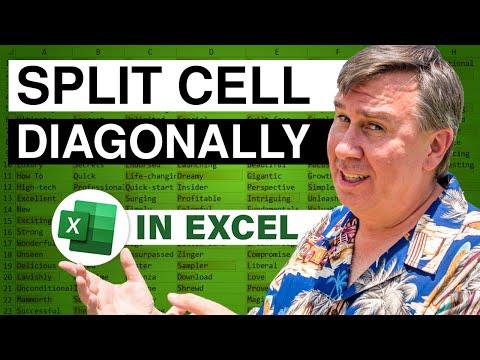 MrExcel's Learn Excel #790 - Split Cell