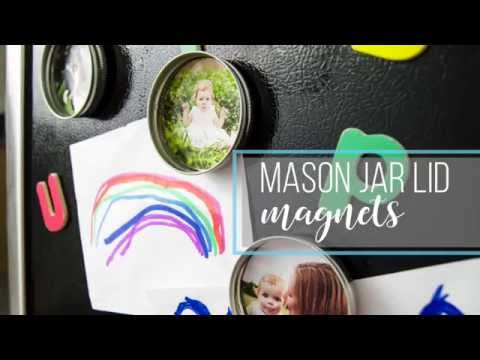 Mason Jar Lid Magnets