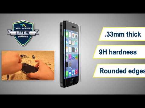 Tech Armor Ballistic Glass Screen Protector Video