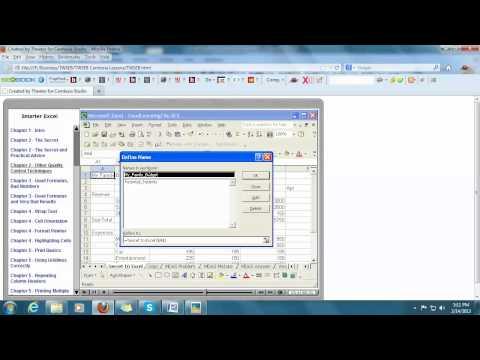 Microsoft Excel, Quality Control Techniques