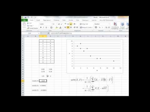 BFIP13: Calculating Sample Covariance and Correlation with Excel