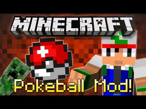 Minecraft : POKEBALL MOD! (Catch Skeletons, Creepers & Zombies!)