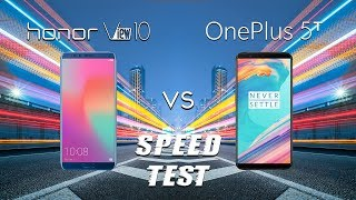 Honor View 10 vs OnePlus 5T Speed Test