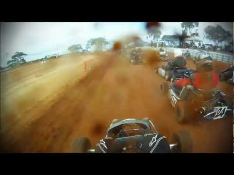 2012 AIDKA dirt kart racing GoPro Hero 125cc