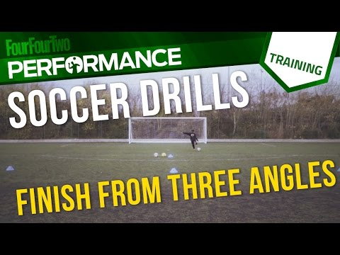 Soccer shooting drill   How to finish from three angles