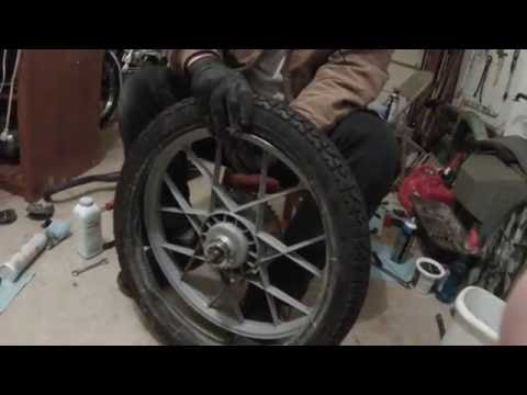 Mounting a tire on a bike/moped rim - uncut
